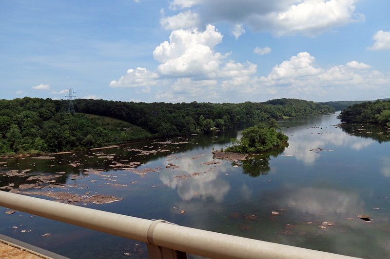 I pointed the camera and held the button down as I crossed the bridge into South Carolina.  The photo above looks south at the Savannah River.