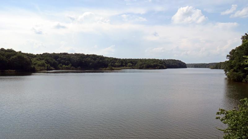 Crossing the Savannah River looking north.