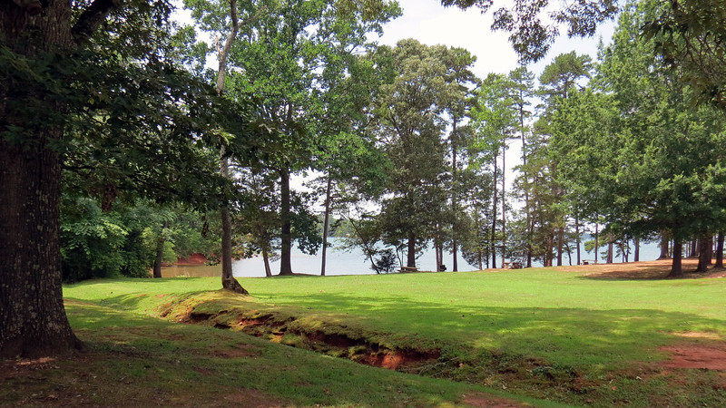 Looking back at Lake Hartwell from the Big Oaks Recreation Area entrance.