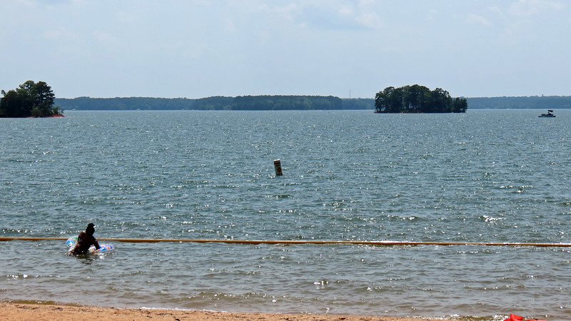 One of the beach areas at Singing Pines.