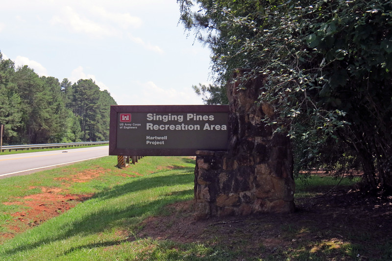 I headed back onto Route 29 and soon arrived at another access point.  I've never been to the Singing Pines Recreation Area before and headed inside to check the place out.