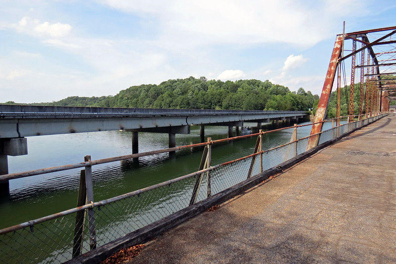 It sits beside the current Route 181 bridge that was built in 1983.