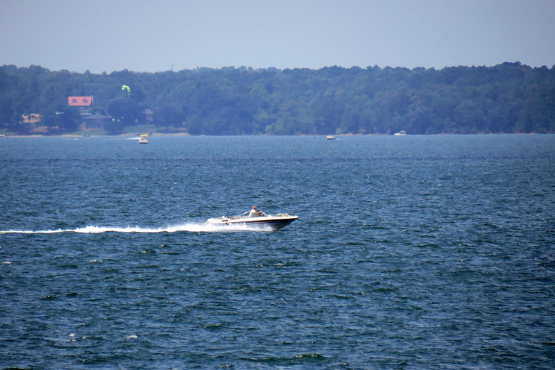 With sunny skies and temperatures in the 90s, there was a lot activity on the lake today.
