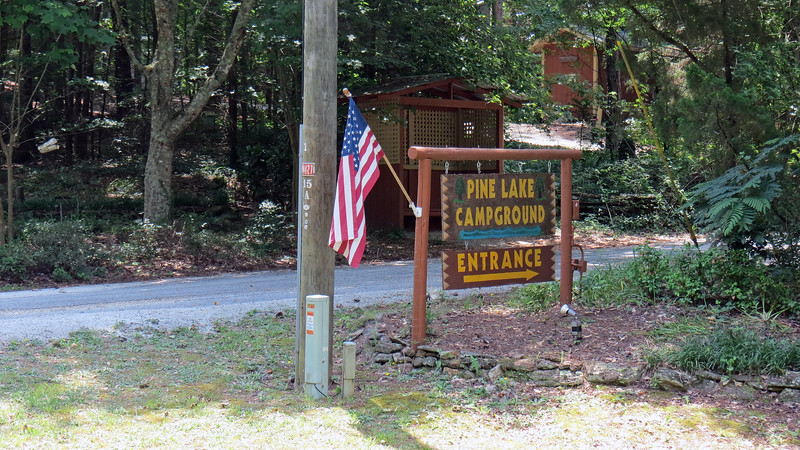 I passed by the Pine Lake Campground.