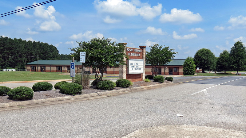 Further west on Route 53 is the North Oconee County school complex that features Rock Branch Elementary School and North Oconee County High School.