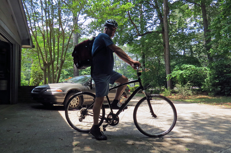 I made the decision to get back on my bicycle in September 2017.  Being dreadfully out of shape and having been away from riding for so many years meant I had to start small.  I started with one two-mile lap around my neighborhood each day, no matter long how it took me, (and it took me quite a while on those first few days !).  <br /> <br /> By the time spring 2018 had arrived, I had been riding consistently as often as Mother Nature would allow.  I could feel myself getting stronger and my endurance level increasing.  On this day, I decided that I had made enough progress to tackle the next goal  -  riding the bicycle to work.