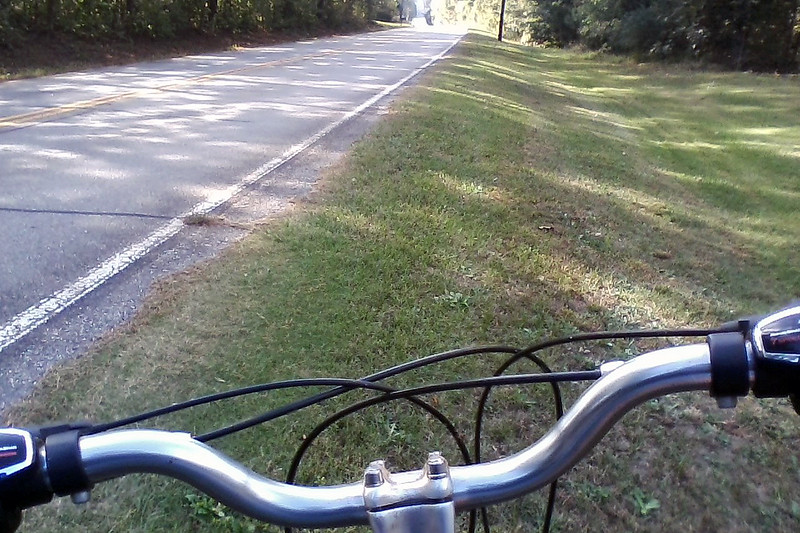 """The title above says it all !  I bought this wonderful Globe Carmel 3 bicycle back in 2010 with the intent of working my way back into riding again.  Life had other plans for me, though, and that idea would have to wait a while.<br /> <br /> Fast forward to the fall of 2017.  My 51-year old self had been noticing several """"signals"""" coming in loud and clear from various sources.  My brain kept telling me that I really should be more active.  But once I started increasing my activity, my muscles responded by telling me I was out of shape.  I had reached the plateau where I didn't have as much energy as I used to.  Clothing sizes had been getting larger.  And visits to my doctor's office for my annual physical exam began to feature words such as, """"glucose level,"""" """"cholesterol,"""" and """"more exercise.""""   <br /> <br /> The bicycle that had been hanging up in my garage for almost 8 years had been subtly trying to get my attention for a while.  But now, the time had arrived.  I found myself motivated enough to head to Walmart on a Sunday evening to buy a couple of inner tubes, (the wrong type I later learned), to get the bike ready to be ridden once again.  The next day, Monday September 25, 2017, marked the start of a long two-wheeled journey.<br /> <br /> I started slowly by riding around my neighborhood.  One lap per day, no matter how long it took, was my initial goal, (and those first couple of laps took a while).   Once I was able to do that easily and with regularity, I began to test myself more and more as my comfort level would allow.  This strategy worked, so much so that on this day, October 14, 2017, I was returning from a 10-mile ride and stopped at the top of a hill along Old Lexington Road for a photo op."""