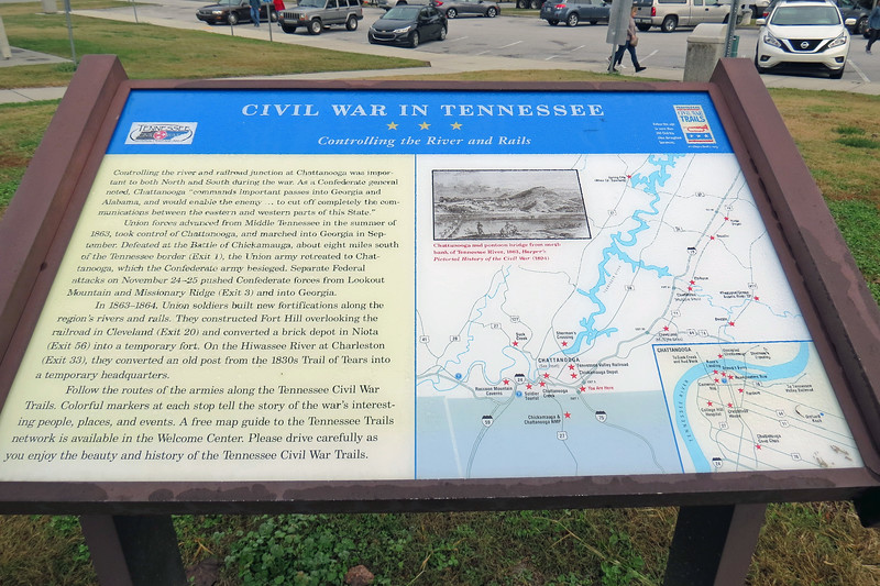 The marker above presented information regarding Tennessee's connection to the Civil War.