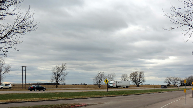 The wide open spaces theme continued on the other side of the interstate.