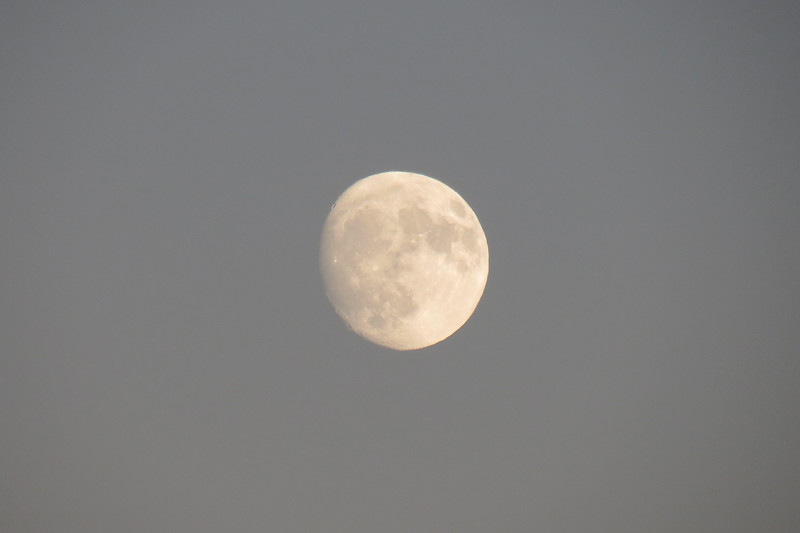 I put my 35x optical zoom lens to work and zoomed in on the moon.