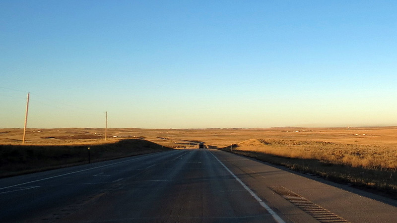 Wide open spaces near Bill, Wyoming.