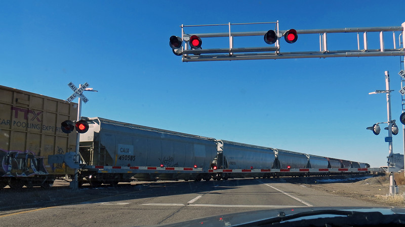 Thankfully, this train wasn't very long.