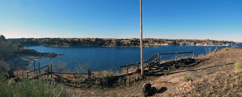 Panorama of Spillway Bay in the southeastern corner of Lake McConaughy.