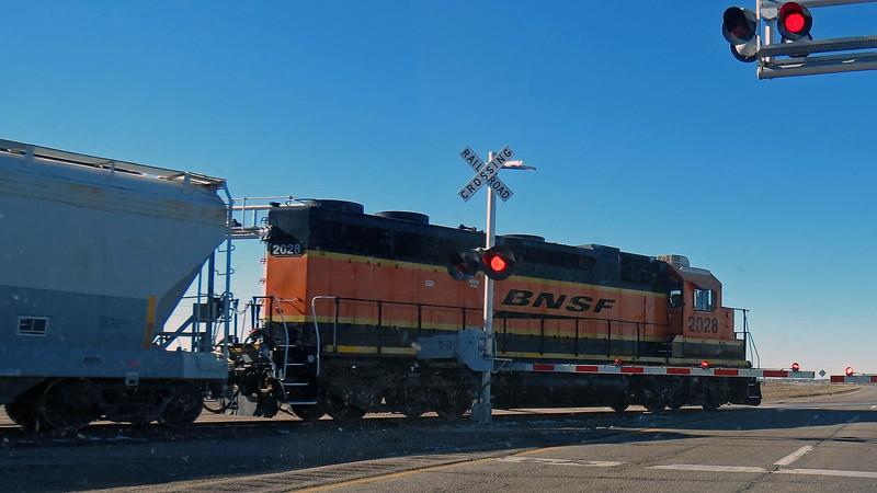 BNSF Train in Mitchell, Nebraska.