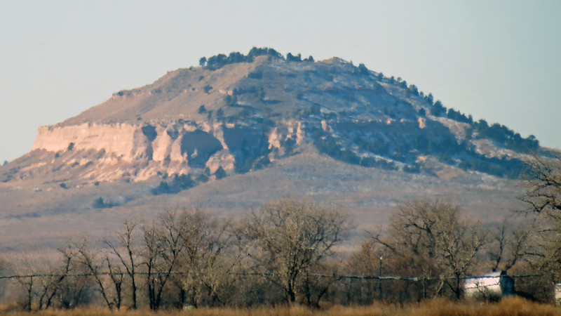 Zooming in on Coyote Rock (4,483 feet).