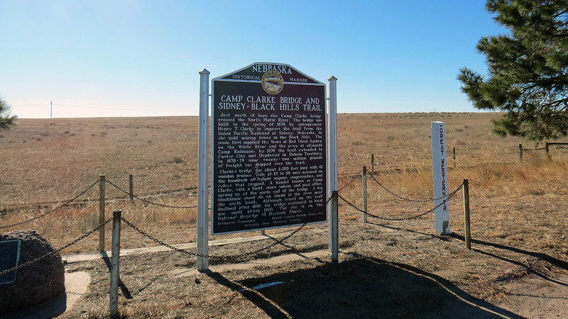 I continued west US Route 26 and stopped again a few minutes later at a pair of historical markers just outside of Bridgeport, Nebraska.