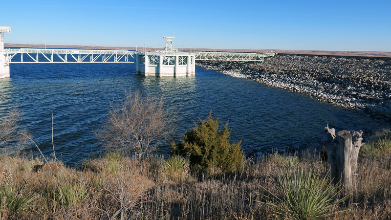 I believe this is the Morning Glory Spillway which is used for flood control.