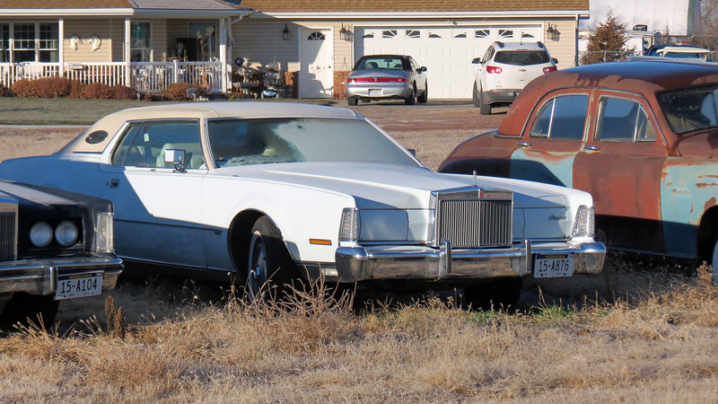Next to the Mark V was a previous generation Lincoln Mark IV.