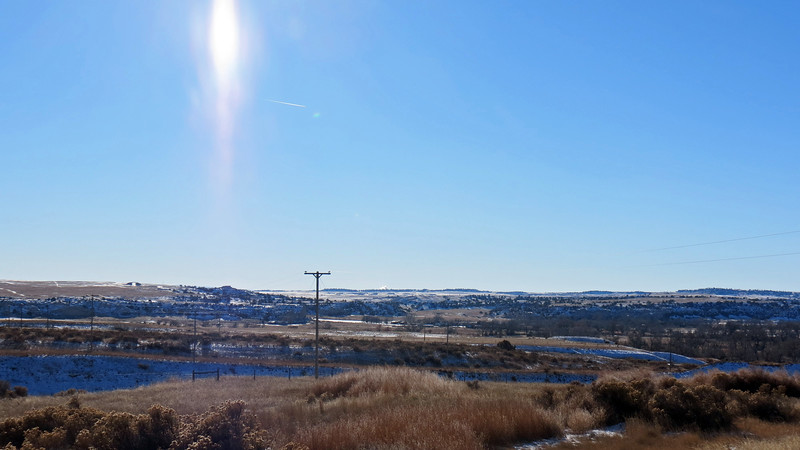 Looking south over the North Platte River.