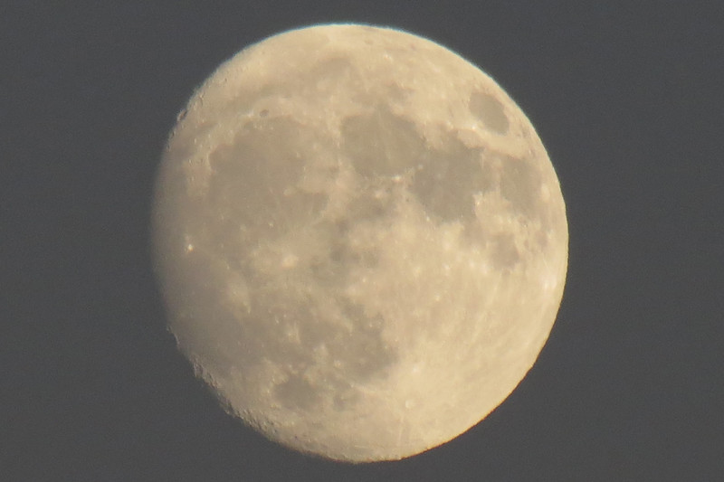 Zooming in on the moon.