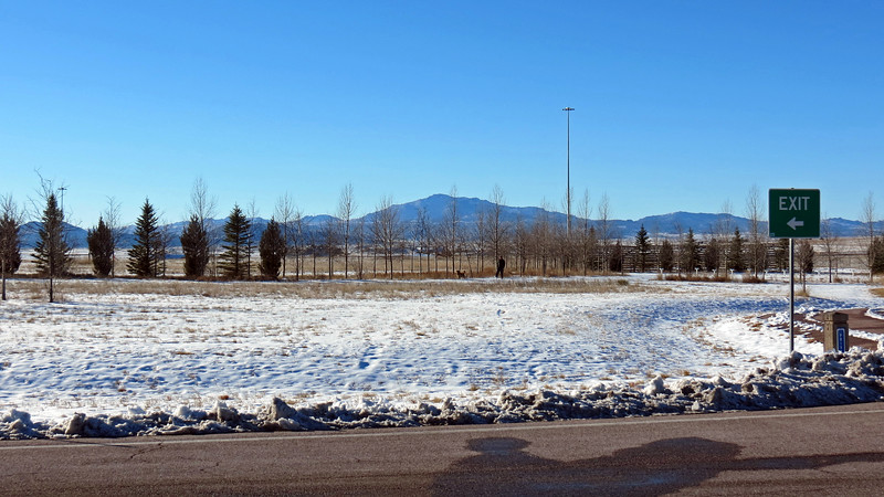 With the Dwyer Junction Rest Area being closer to the Laramie Mountains, I had a great view of Laramie Peak.