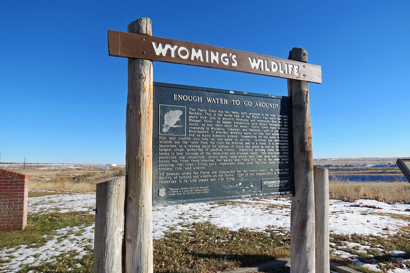 This marker describes the significance of the two forks of the Platte River.