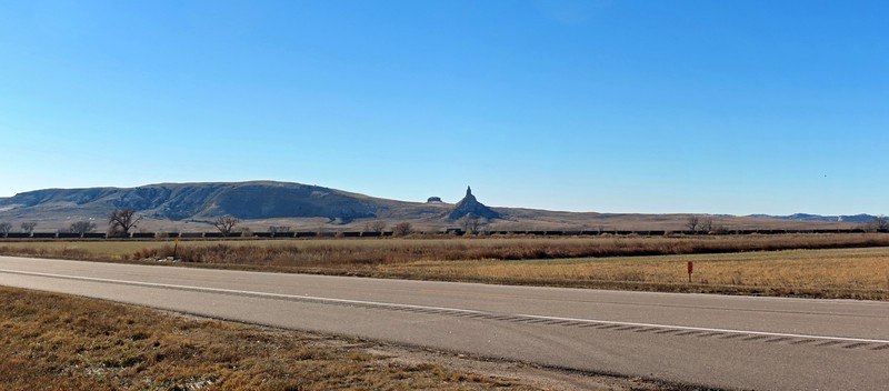 With the theme of this region being 19th century trails, it's no surprise that the distinct appearance of Chimney Rock became a major landmark along the Oregon, California, and Mormon Pioneer Trails.