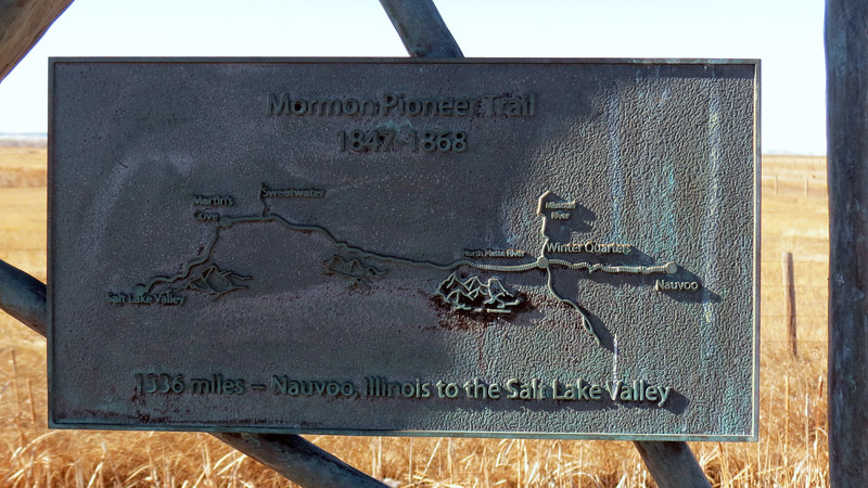 The Mormon Pioneer Trail covered 1,336 miles from Nauvoo, Illinois to what is now Salt Lake City, Utah.