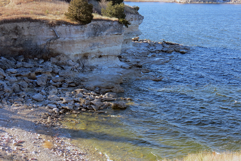 Lake McConaughy shoreline.
