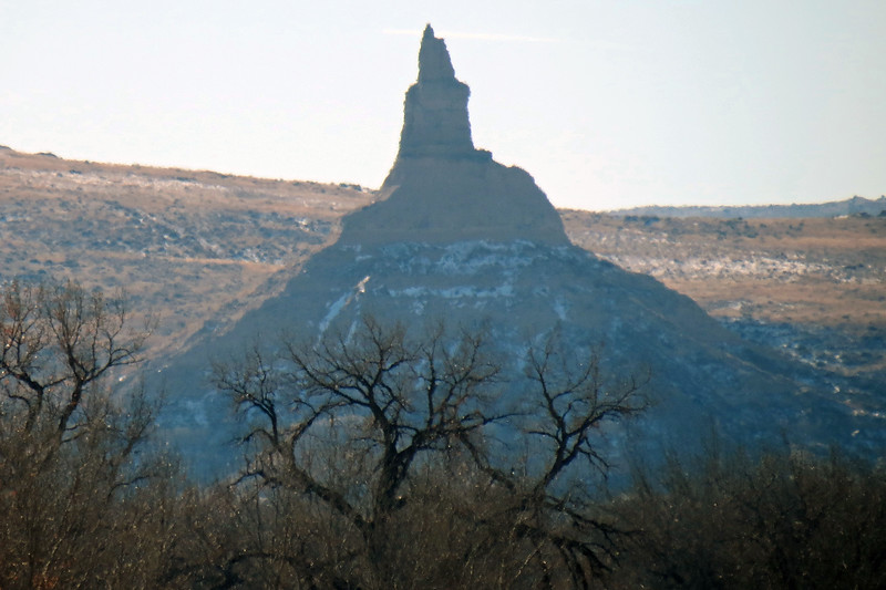 Zooming in on Chimney Rock from about 3 miles away.