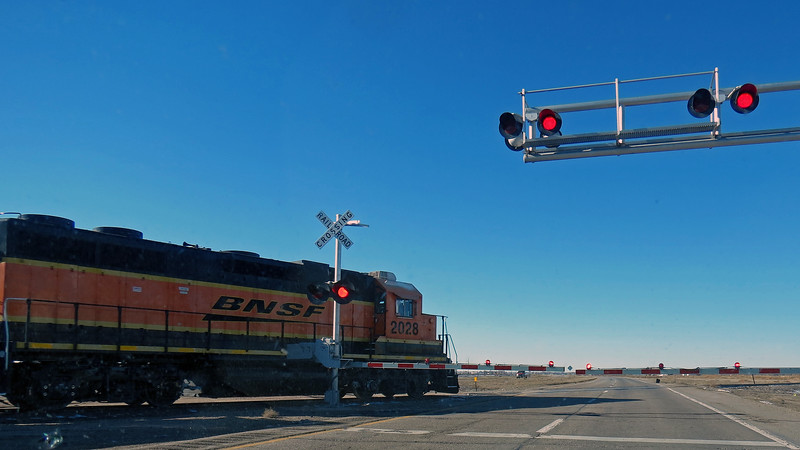 Waiting for another train in Mitchell, Nebraska.