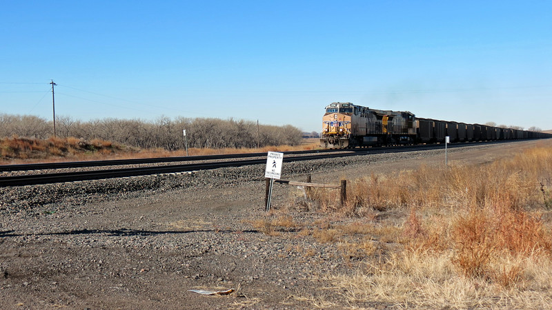 Eastbound train at Lake McConaughy.