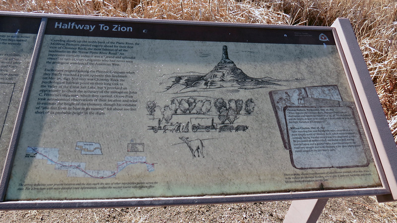 Information on Chimney Rock and its significance.