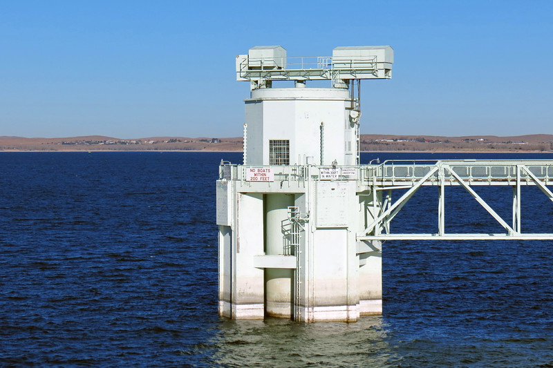 Lake McConaughy outlet tower.