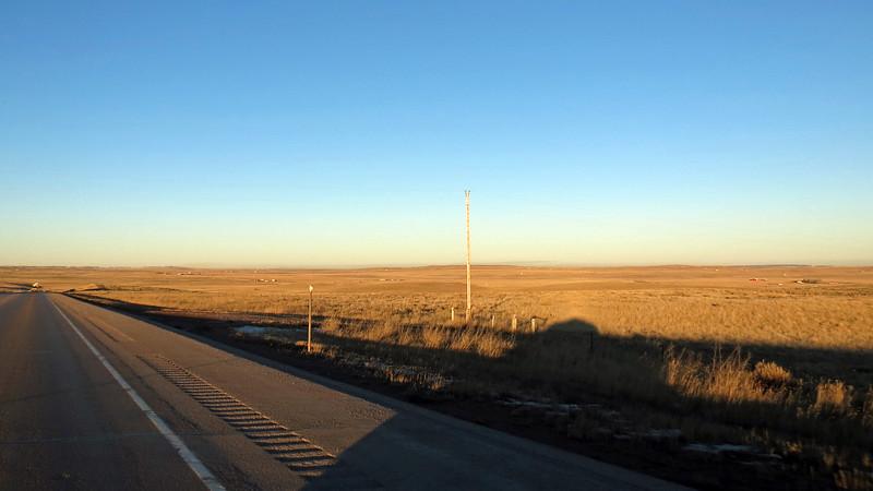 Wyoming Route 59 near Bill, Wyoming.