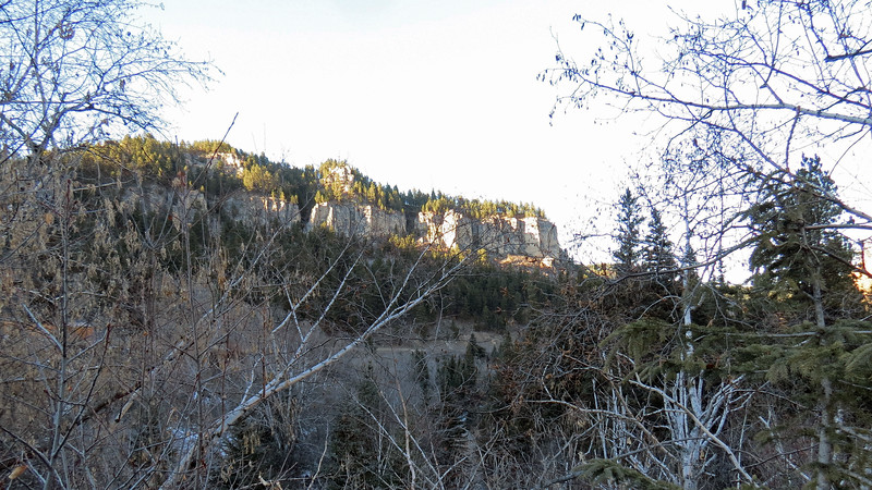 Another view of the nearby cliffs to the north.