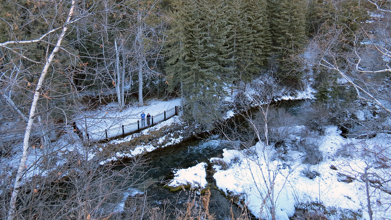 A series of hiking trails leads visitors to the base of Spearfish Falls.