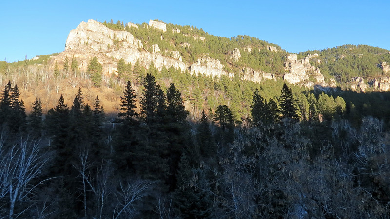 Cliffs to the east.