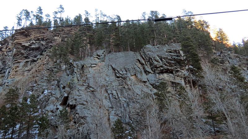 Cliffs above Bridal Veil Falls.