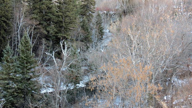 Looking down toward Spearfish Creek.