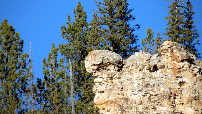 Zooming in on the cliffs of Spearfish Canyon.