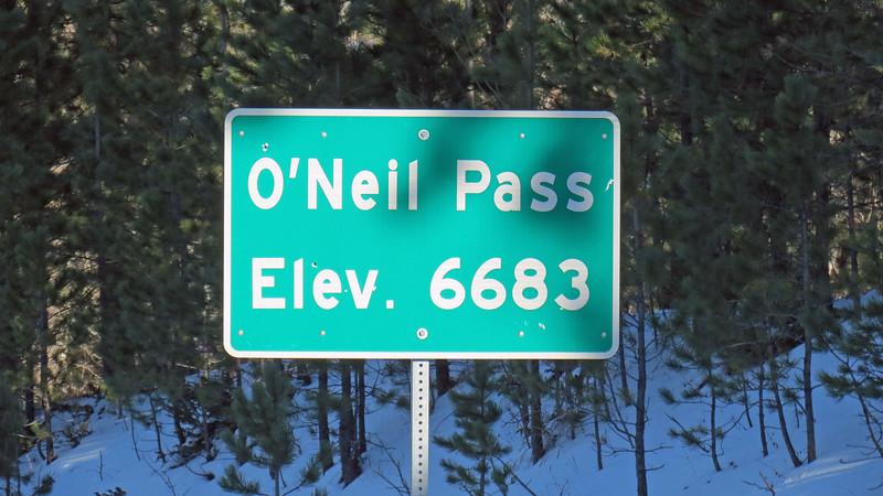O'Neill Pass (6,683 feet) along the Can Am Highway.