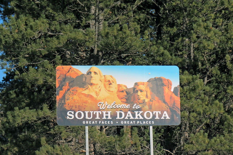 We had to stop for pics at the Welcome to South Dakota sign.