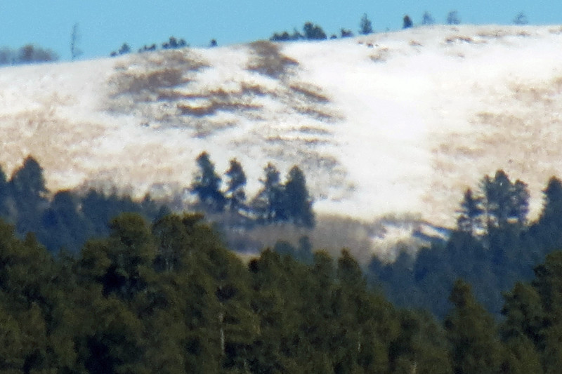 Zooming in on the Bear Lodge Mountains.  I'm pressing my luck with the 4x digital zoom on top of the 35x optical zoom.