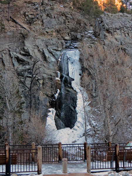 Bridal Veil Falls is 60-feet tall and gets its name from the shape of the water as it flows over the falls.