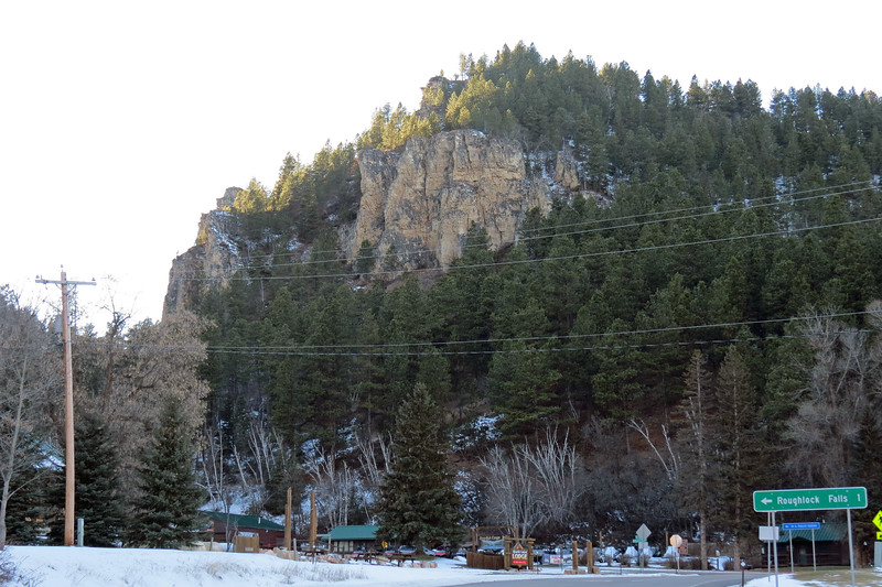 The building on the left side of the photo above is the Spearfish Canyon Lodge, a 54-room hotel built in 1995.