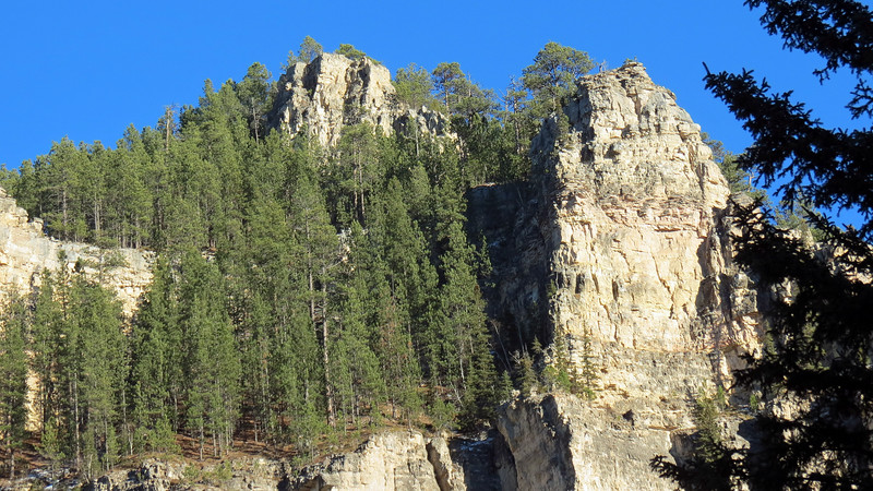 Cliffs near the Spearfish Canyon State Nature Area.
