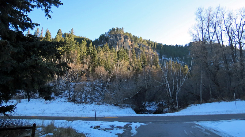 Across from the parking area is Little Spearfish Creek.