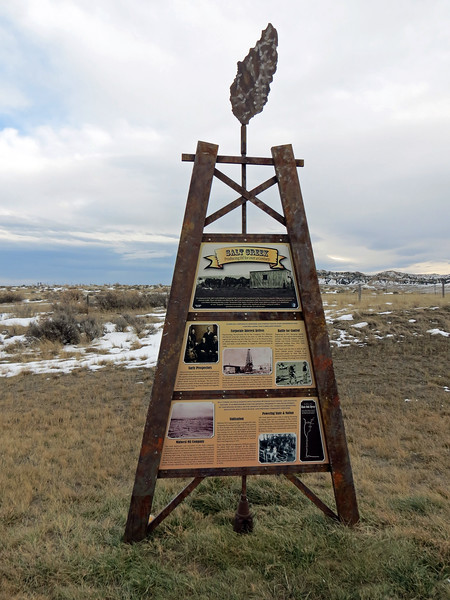 The first marker describes the history of the Salt Creek Oil Field and its century of oil production.