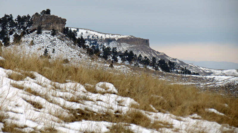 Zooming in on Little Pine Ridge and nearby rimrocks.